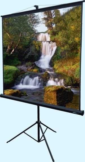 1.5m x 1.5m Tripod projection screen