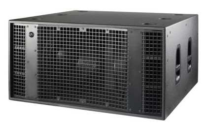 "DAS 2 x 21"" 2x2000 W, ground-stacked, 145dB SPL"