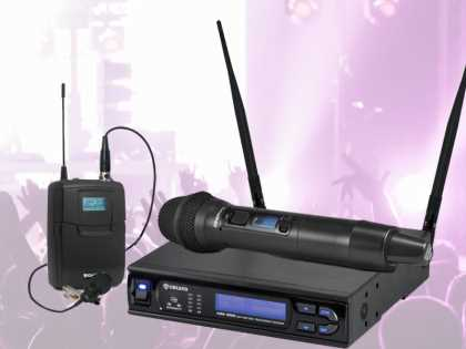 Wireless Microphone Kit: 100 Ch. Lapel and Handheld