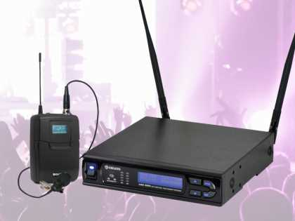 Wireless Microphone System 100 Ch. Lapel