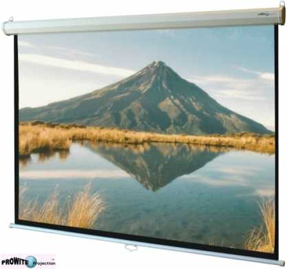 "Manual projection screen, 16:9, 90"" diag"