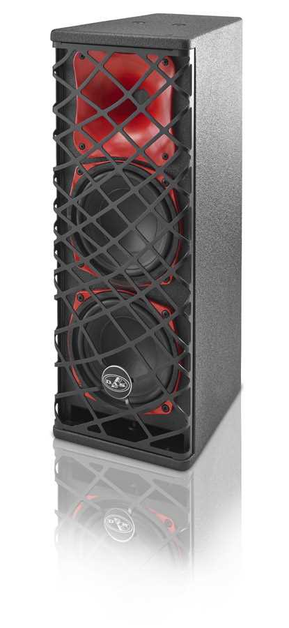 "DAS Sound Force 2x6"" 2 way Mid High Speaker, 80x80"