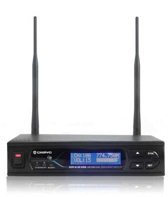 Wireless Radio Mic Receiver: 624mhz UHF,  100 Ch