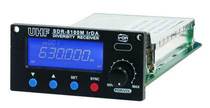 100Ch LCD Wireless Mic Receiver Module, IrDA 624