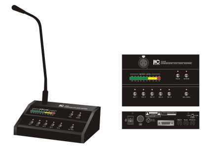 5 Zone Paging Microphone for T-350s/240s PA amplifiers